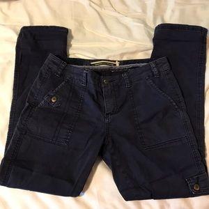 Anthropologie Navy Cargo Pants 26P
